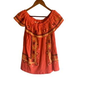 Women's Easel Embroidered Ruffle Blouse